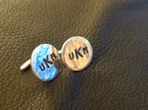 Custom Made Custom Font Sterling Silver Monogrammed Cufflinks