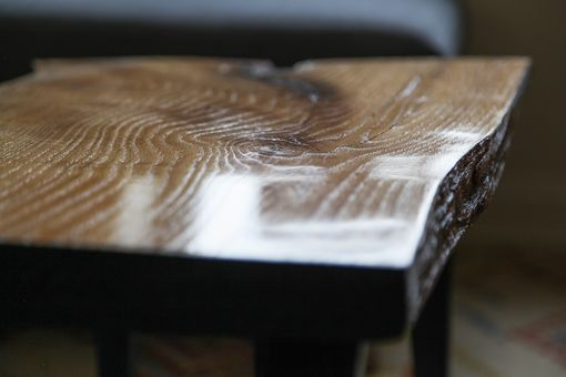 Custom Made Coffee Table - Live Edges With Discrete Inlay
