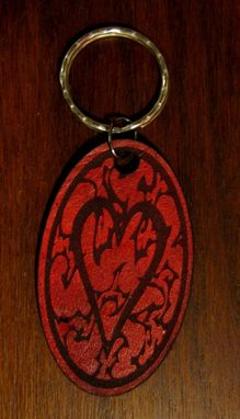 Custom Made Keychain Heart