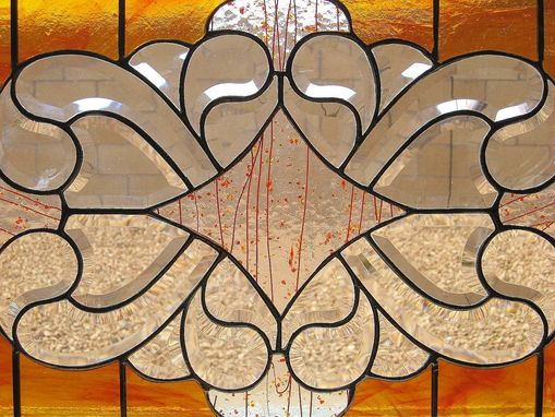 Custom Made Stained Glass Bevel Hanging Panel For Home Or Office Windows