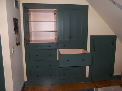 Custom Made Bedroom Closet Converted Into An Armiore