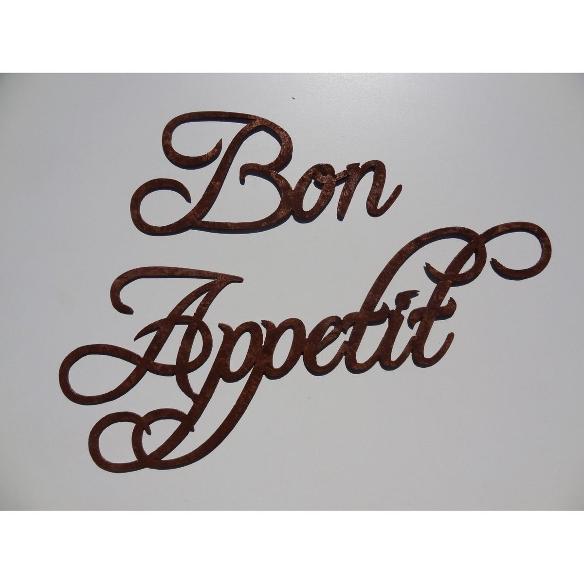 Kitchen Metal Wall Art Custom Made Bon Appetit Words Large Metal Wall Art Antique Copper