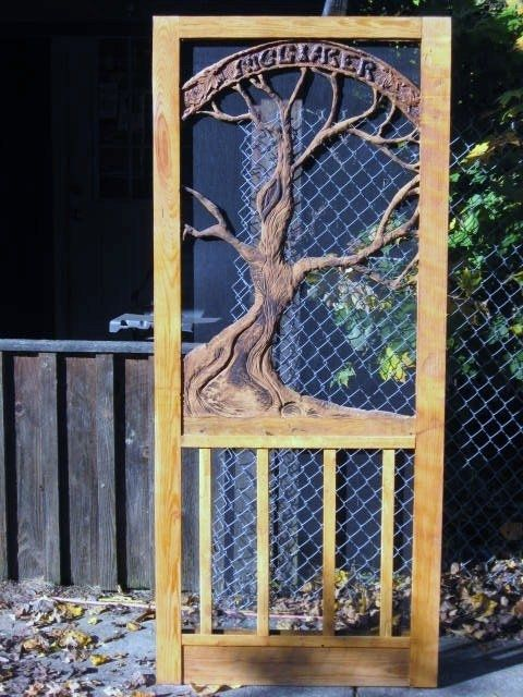 Handmade Coustom Screen Door By Spirit Of The Wood