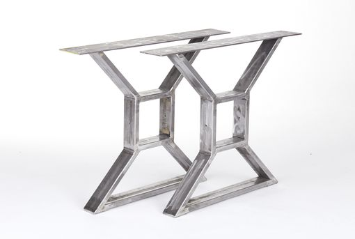 Custom Made Industrial Steel X Table Legs