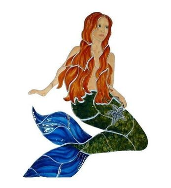 Custom Made Mermaid Hand Crafted Ceramic Figure For Pools