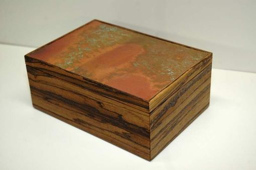 Custom Made Copper Topped Keepsake Box