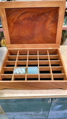 Custom Made Mahogany Tie Organizer
