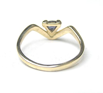 Custom Made Benitiote Gemstone Ring In 14k Gold