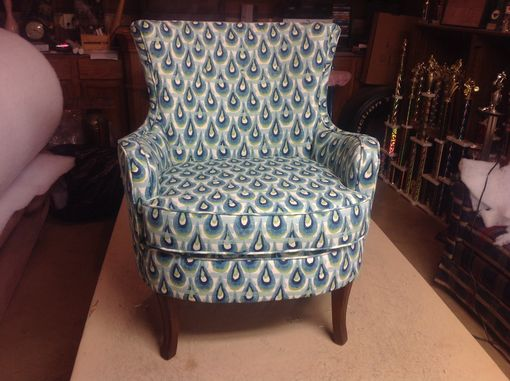 Custom Made Mid Century Barrel Chair