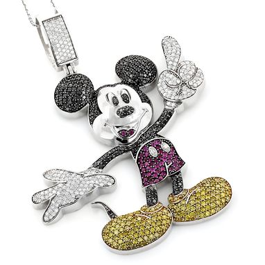 Custom Made Diamond Mickey Mouse Pendant