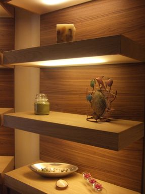 Custom Made Lighted, Floating Shelves