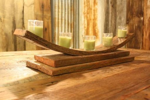 Custom Made Rustic Reclaimed Bent Wood Candle Holders - Votive