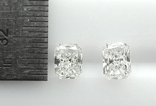 Custom Made Custom Radiant Cut Diamond Stud Earrings