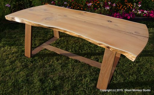 Custom Made Cedar Slab & Mahogany Dining Table