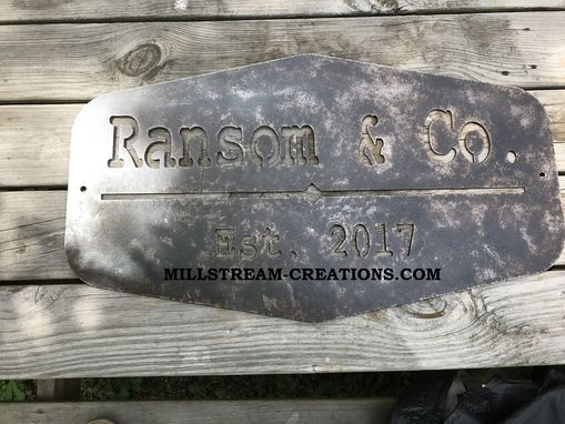 Custom Made Rustic Distressed Metal Signs