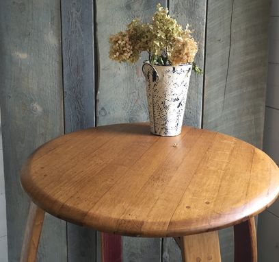 Custom Made Wine Barrel Bistro Table - Indoor / Outdoor