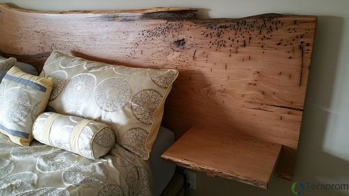Custom Live Edge White Oak Headboard With Built In End