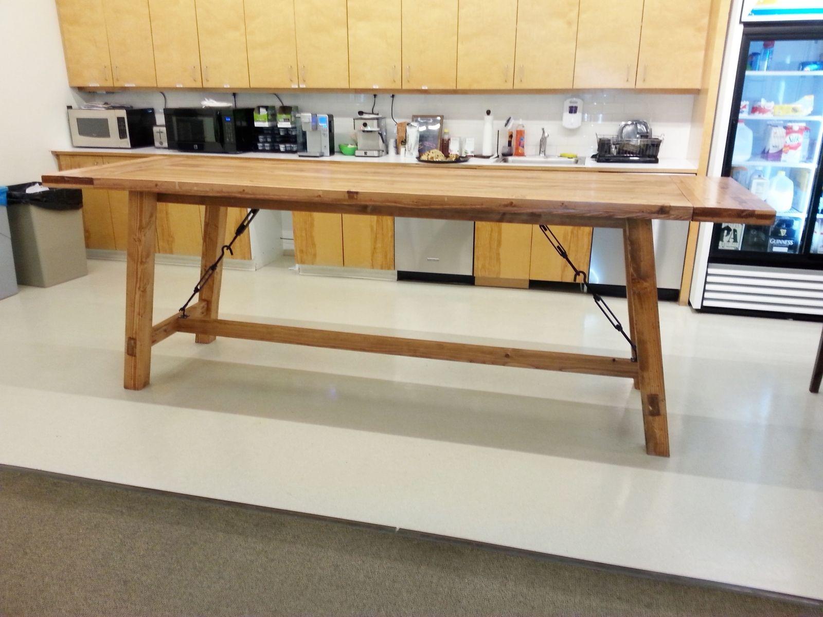 Custom Bar Height Harvest Table by Custom Made Furniture
