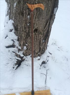 Custom Made Tiger Maple, Paduak, Black Walnut Walking Cane