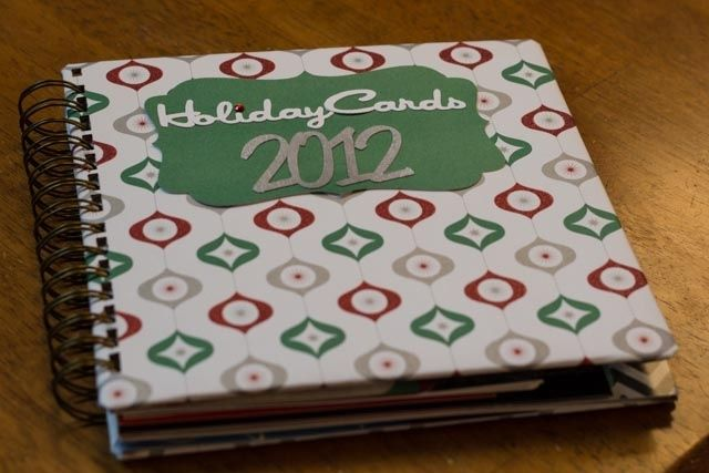hand crafted handmade wire bound holiday card keepsake album by the