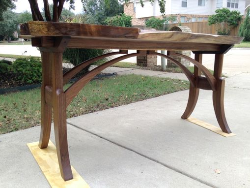 Custom Made Live Edge Walnut Entry Table