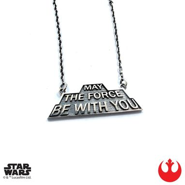 Custom Made May The Force Be With You - Precious Metals
