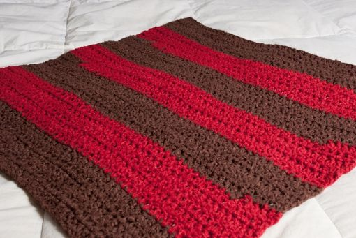 Custom Made Red And Brown Baby Bamboo Blanket