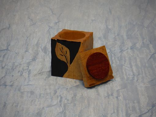 Custom Made Carved Leaf Ring Box