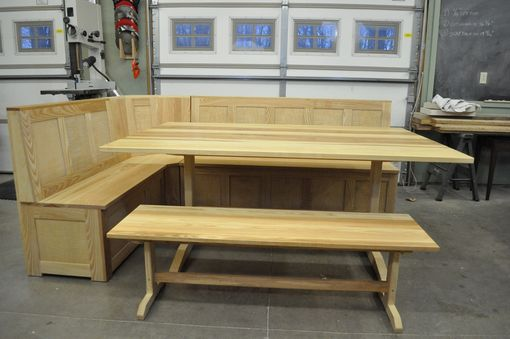 Custom Made Figured Ash Breakfast Nook / Banquette