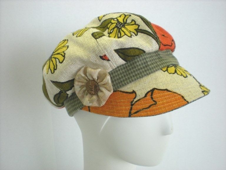 Custom Vintage Fabric Newsboy Cap by What a Great Hat