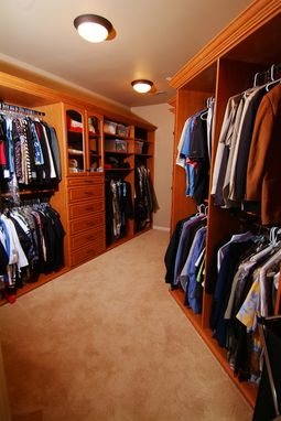 Custom Made Bruce's Master Walk-In Closet
