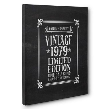 Custom Made Aged To Perfection 40 Years Old Vintage 1979 Canvas Wall Art
