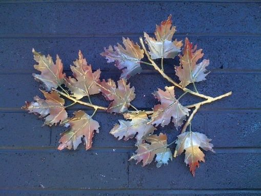 Custom Made Maple Leaf Branch Sculpture