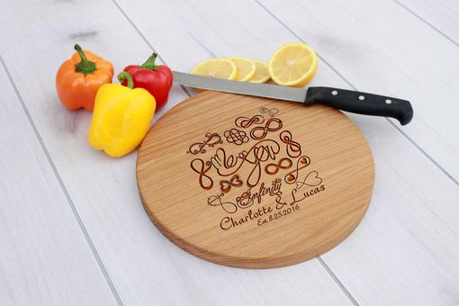 Custom Made Personalized Cutting Board, Engraved Cutting Board, Wedding Gift – Cbr-Wo-Infinitycharlottelucas