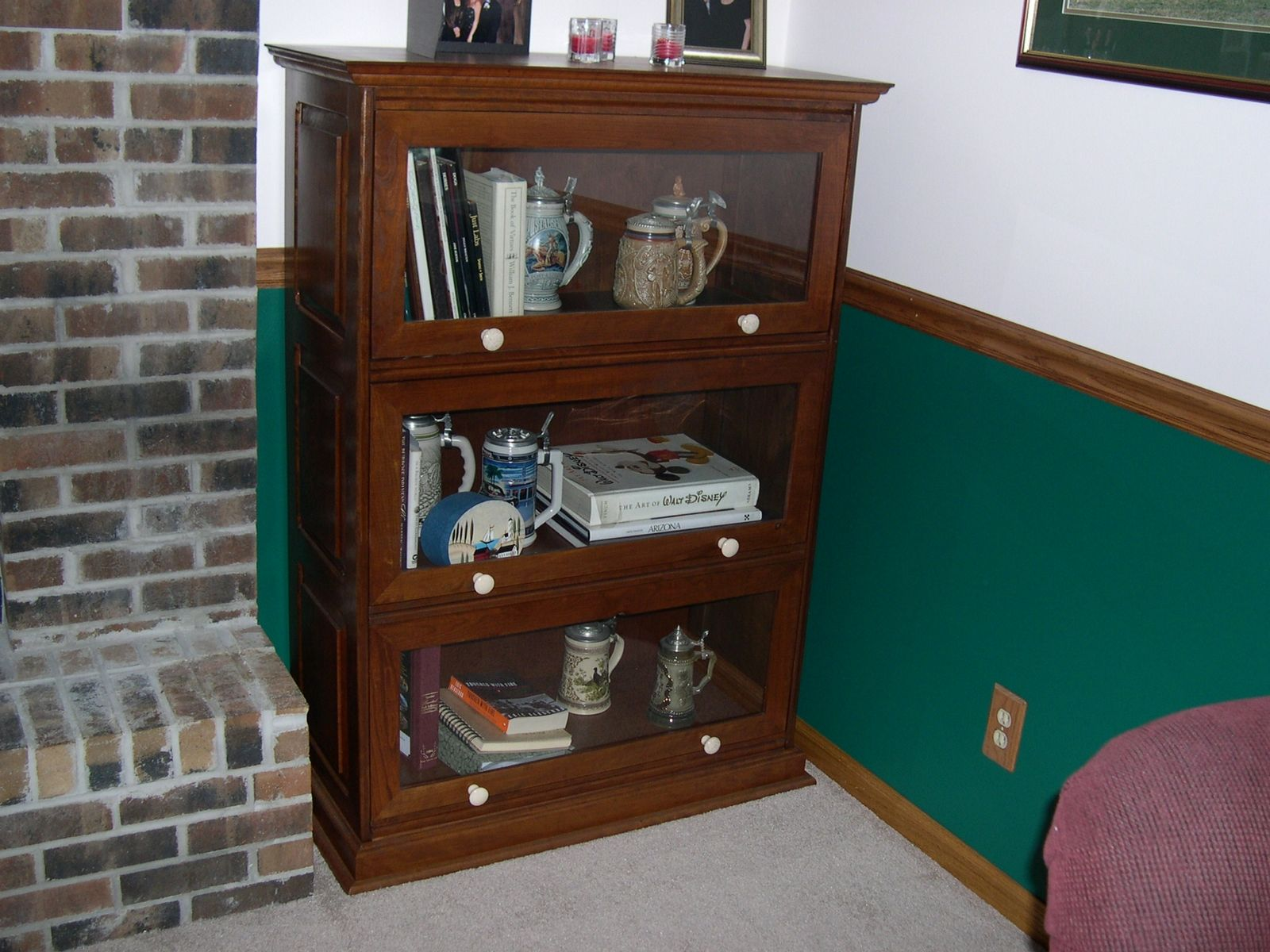 Handmade Barrister Bookcases By Pureamerican Creations