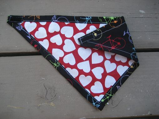 Custom Made Rainbow Bicycle Bandana Bib For Baby