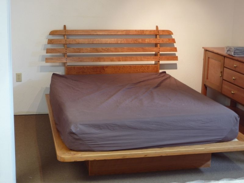 Hand Crafted Floating Platform Bed By Natural Choice