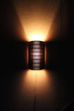 Custom Made Laser Cut Wooden Sconce Light