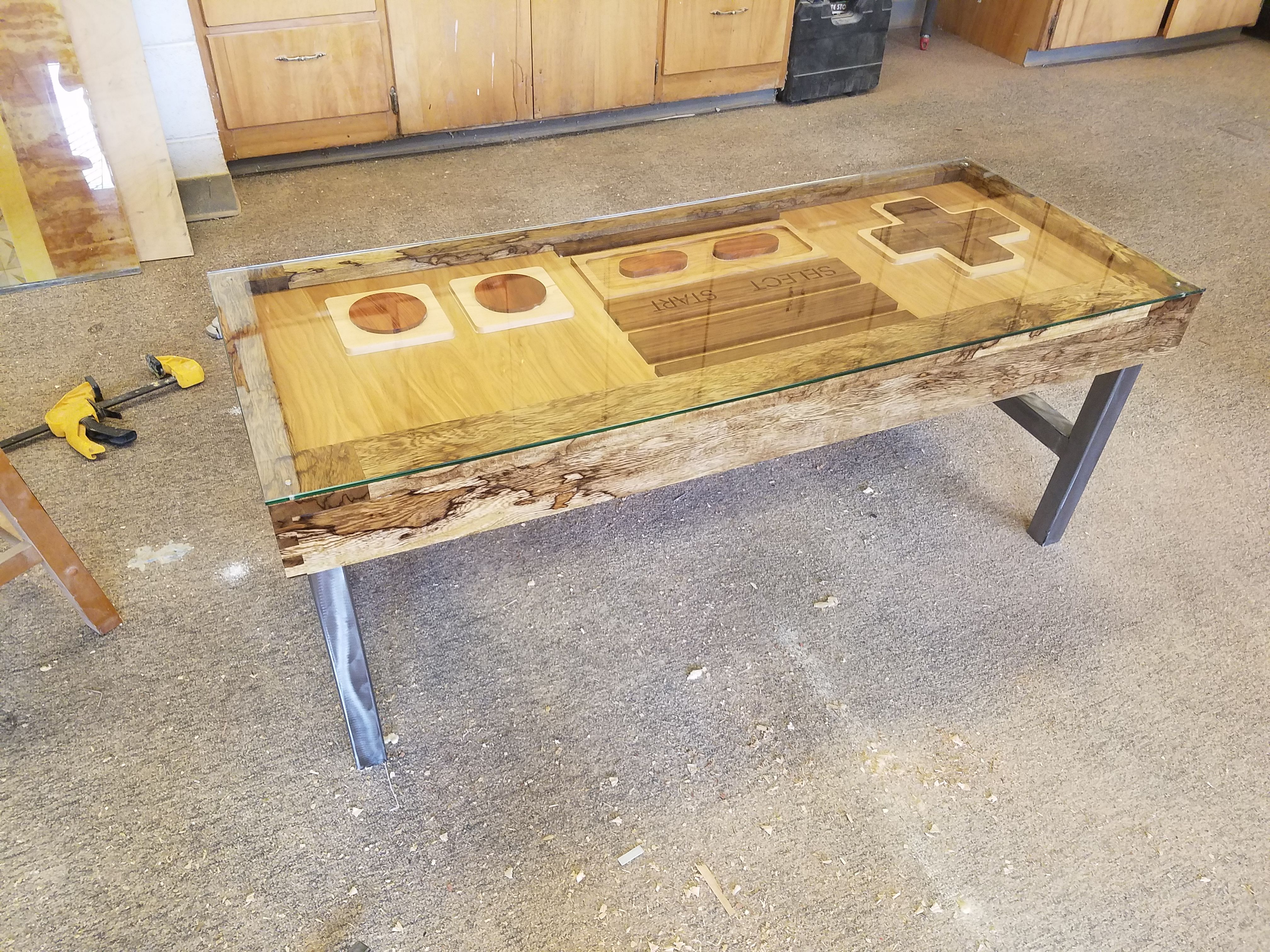 Controller Coffee Table.Hand Made Nes Controller Coffee Table By Imperial Woodworks