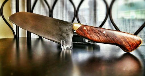 Custom Made Santoku- 15 Layer Polished Stainless Steel With White Paper Center Core