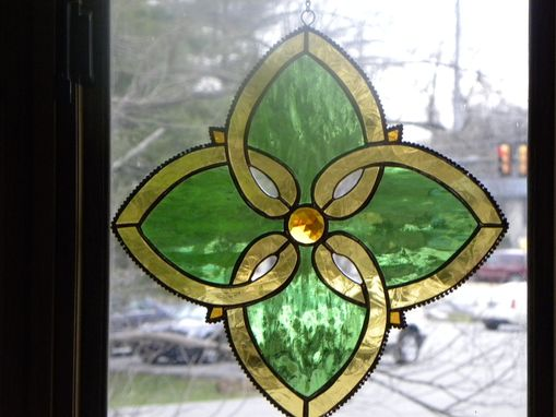 Custom Made Irish Celtic Knot Suncatcher