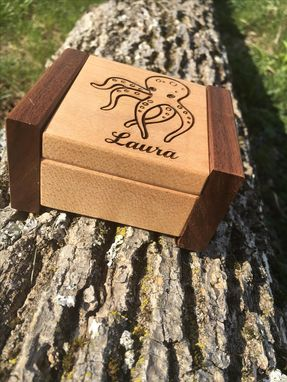 Custom Made Custom Engraved Ring Box
