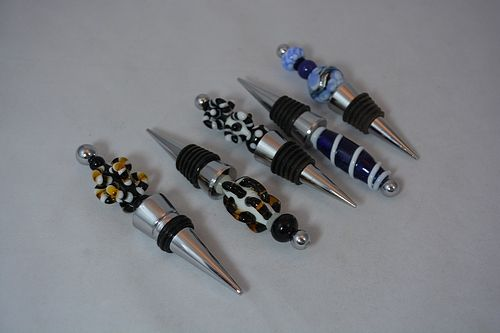 Custom Made Assorted Wine Bottle Stoppers - Priced Per Each