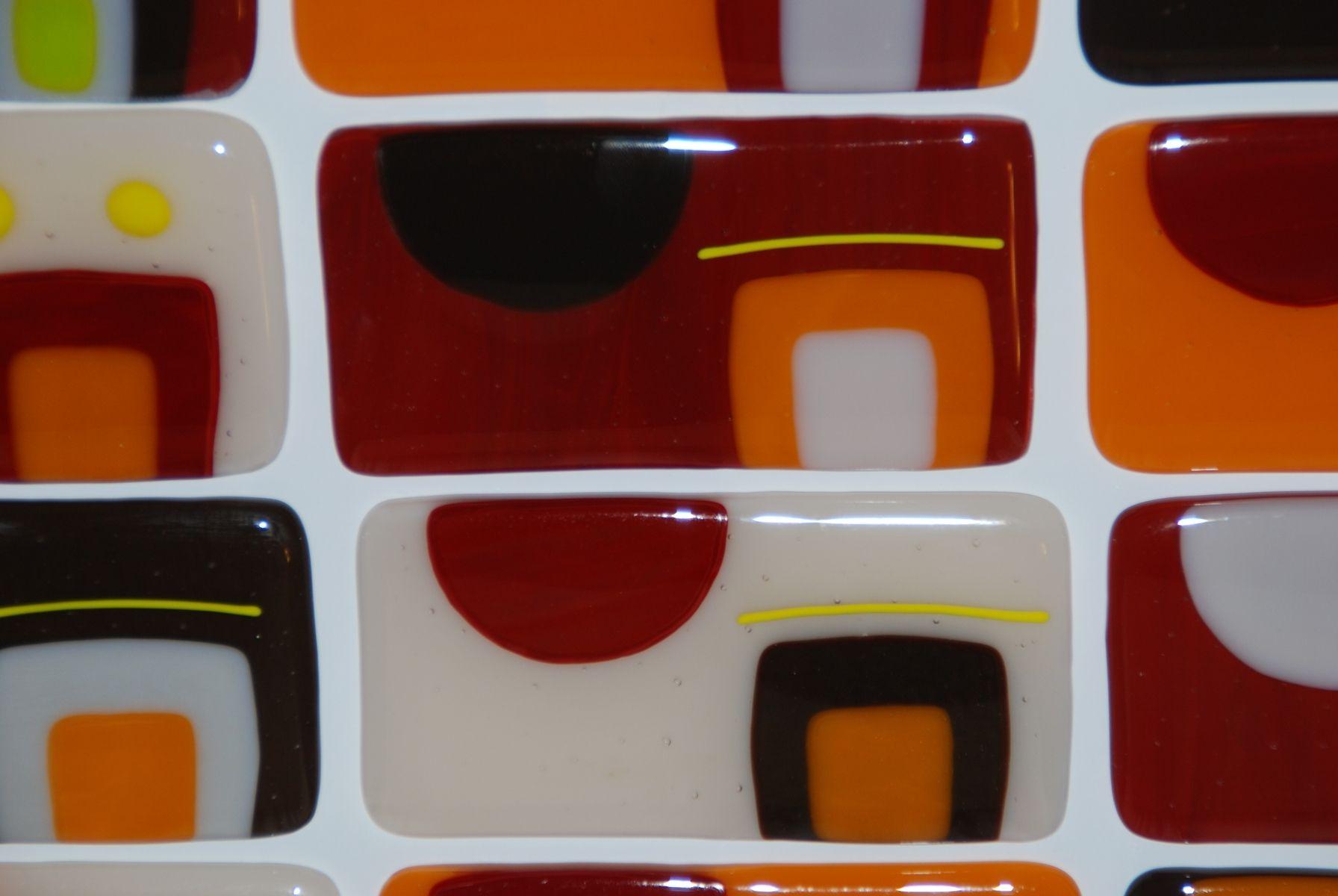 Custom Made Southwest Kitchen Backsplash In Fused Glass Custom Kitchen Backsplash