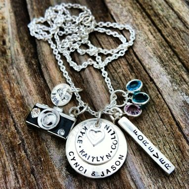 Custom Made Personalized Hand Stamped Sterling Silver Photography Necklace