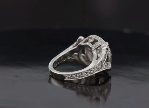 Custom Made Fabulous Platinum Split Shank Halo