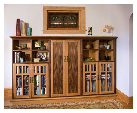 Custom Made Entertainment Center/Bookcases