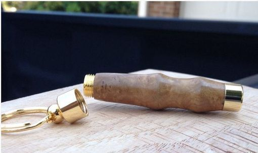 Custom Made Satinwood Burl Secret Compartment Keyring