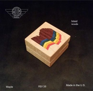 Custom Made Ring Box, Rainbow Female.  Rb-138