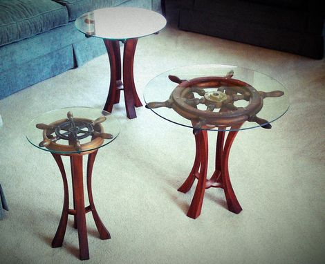 Custom Made Shipwheel Tables